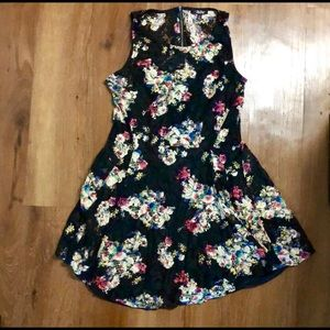 XL black, lacy floral dress.